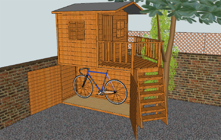 Bike Storage In Shed Images